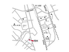 新川崎貳阡(新川崎二千)案内図