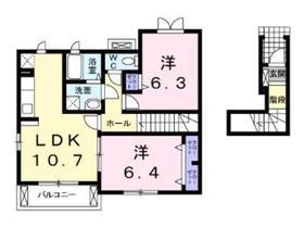 ガロファーノ2階Fの間取り画像
