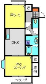 エルレーブB棟2階Fの間取り画像