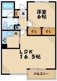 京王永山駅 徒歩9分1階Fの間取り画像