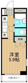 リバーサイドハイツ湘南6階Fの間取り画像