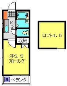 KSフラット2階Fの間取り画像