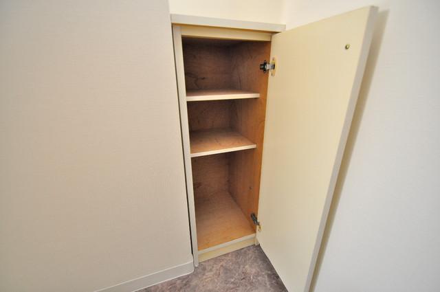 レガーレ布施 玄関にはコンパクトながらシューズボックスもありますよ。