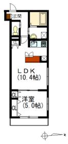 ヘーベルブランシュ2階Fの間取り画像