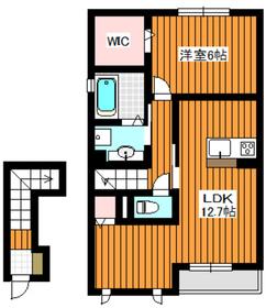 ウィルテラス2階Fの間取り画像