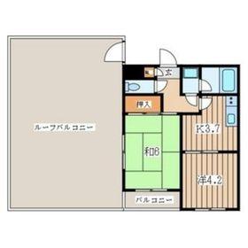 メゾナムール1階Fの間取り画像