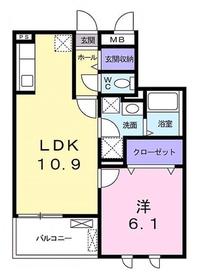 アドニス4階Fの間取り画像