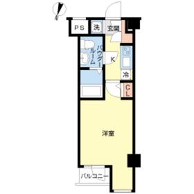 スカイコート神楽坂参番館4階Fの間取り画像