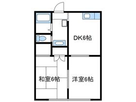 ドリームタケ2階Fの間取り画像
