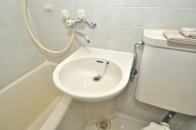ベルハイム長瀬駅前 可愛いいサイズの洗面台ですが、機能性はすごいんですよ。