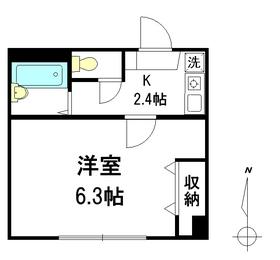 シャトレサンシャインG1階Fの間取り画像