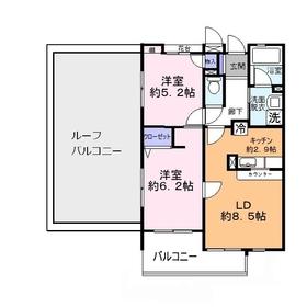 タートルクレインふじみ野Ⅱ5階Fの間取り画像