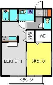 ディアロードF1階Fの間取り画像