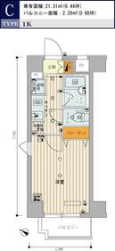 スカイコート品川御殿山4階Fの間取り画像