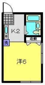 星川駅 徒歩4分2階Fの間取り画像