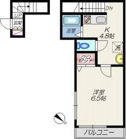 アンファン2階Fの間取り画像
