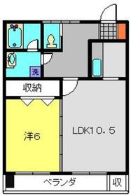 金子ビル2階Fの間取り画像