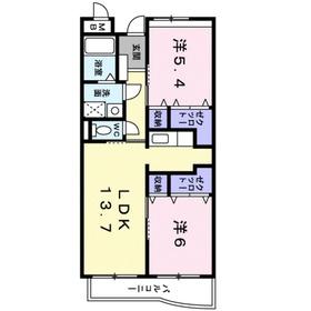プリムローズ(日新町3)1階Fの間取り画像