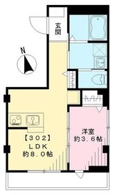 ハレ ルアナ3階Fの間取り画像