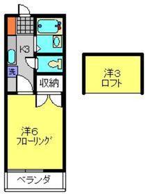 和田町駅 徒歩31分2階Fの間取り画像