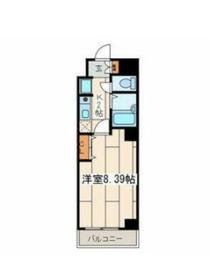 パール横浜東口壱番館9階Fの間取り画像