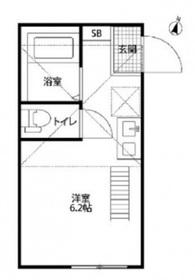 グランカーサ横浜2階Fの間取り画像
