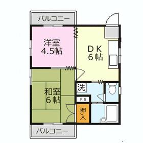 カーサフローラ2階Fの間取り画像