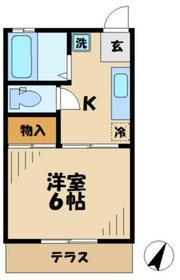 bCASA多摩永山2階Fの間取り画像