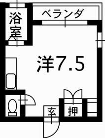 フローラル新屋敷8階Fの間取り画像