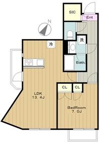 スフレ若葉台2階Fの間取り画像