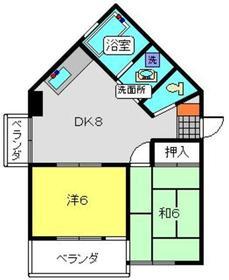 ファミール幸栄3階Fの間取り画像