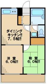 キャッスル聖蹟桜ヶ丘1階Fの間取り画像