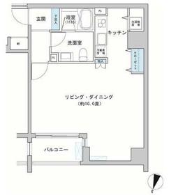 神田駅 徒歩4分8階Fの間取り画像