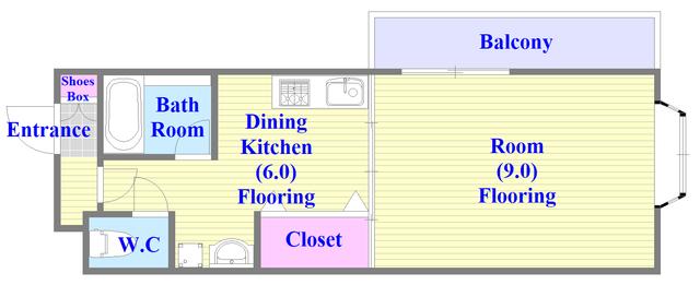 サンオークスマンション ひとつひとつのお部屋が、ゆとりのある間取りになってます。