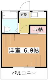 高野ハイツ2階Fの間取り画像
