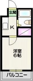 プリムローズ織田4階Fの間取り画像