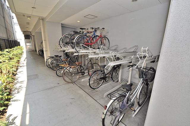 Gransisu Takaida 駐輪場が敷地内にあります。愛車を安心して置いておけますね。