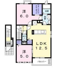 相模大塚駅 徒歩9分2階Fの間取り画像