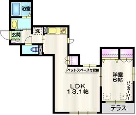 maison de O1階Fの間取り画像