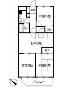 ロイヤル二俣川C棟3階Fの間取り画像