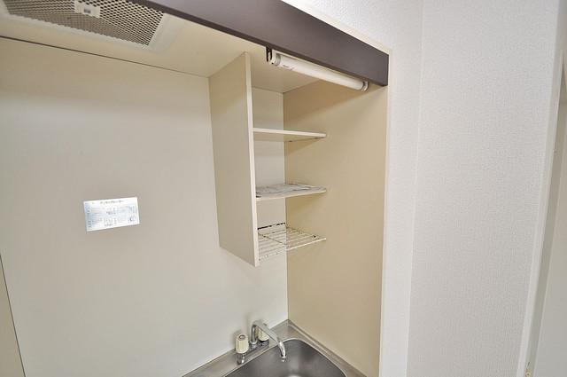 コシベ八戸ノ里 キッチン棚も付いていて食器収納も困りませんね。