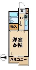 マンション如月(キサラギ)4階Fの間取り画像