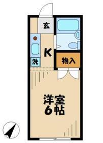 マルナカハイツ2階Fの間取り画像