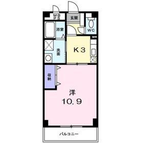 アクアヴィラ2階Fの間取り画像