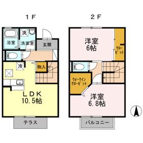 海老名駅 徒歩18分1階Fの間取り画像