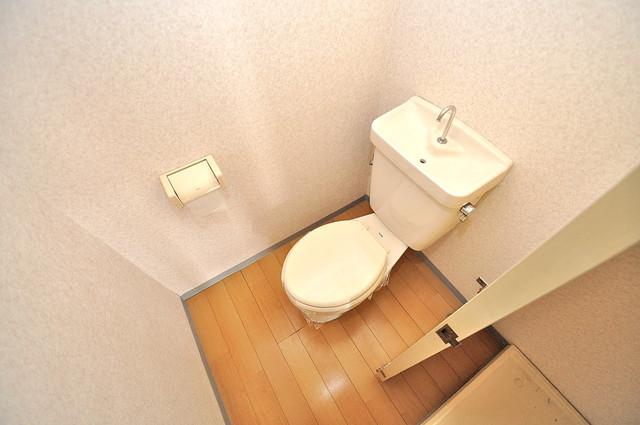 シャトーパシフィック 清潔感のある爽やかなトイレ。誰もがリラックスできる空間です。
