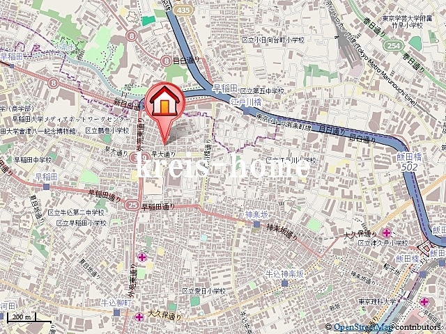 レジディア神楽坂案内図