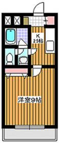 成増駅 徒歩5分4階Fの間取り画像