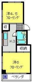 アリガマンション2階Fの間取り画像