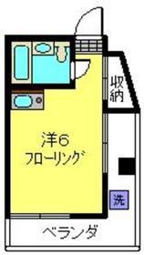 タナベビル4階Fの間取り画像